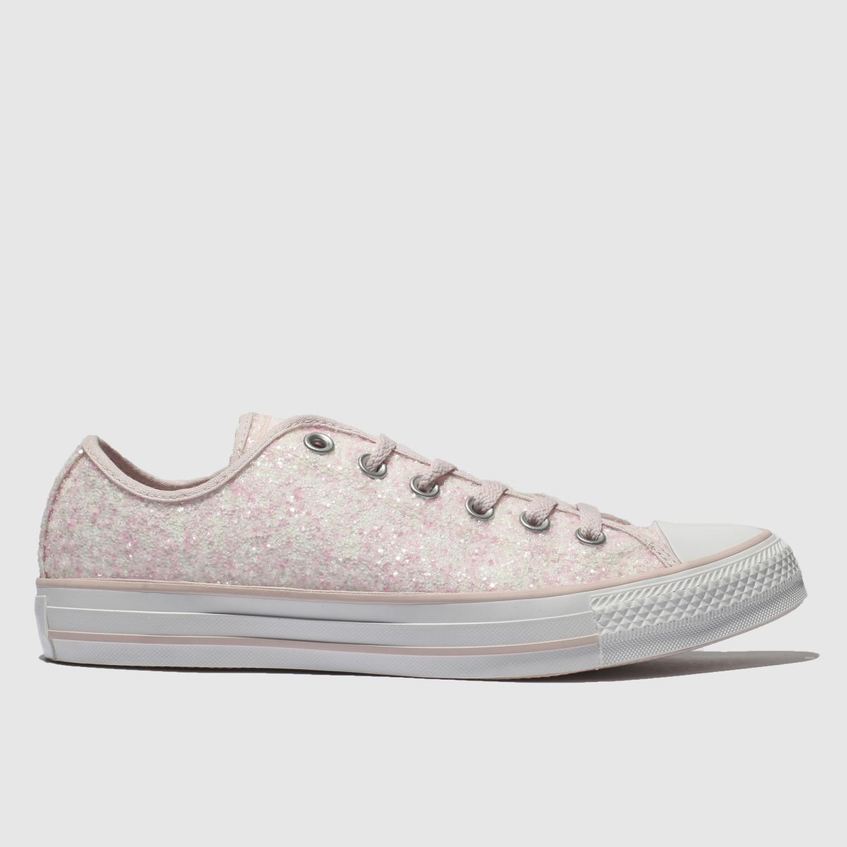 Converse Pink All Star Glitter Ox Trainers