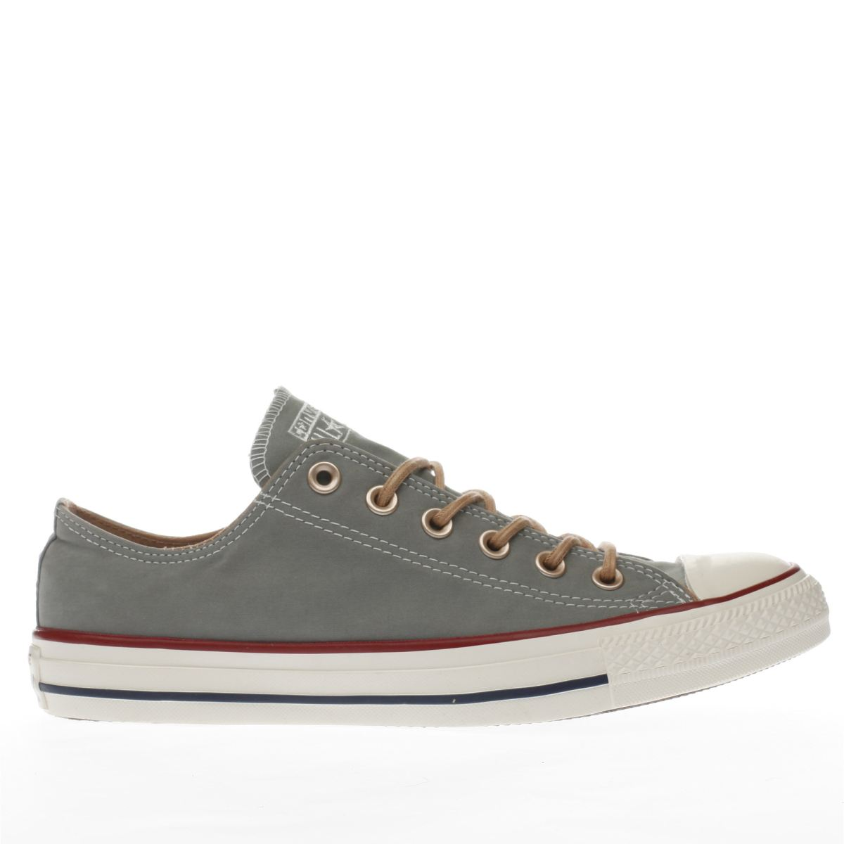 converse khaki all star peached ox trainers