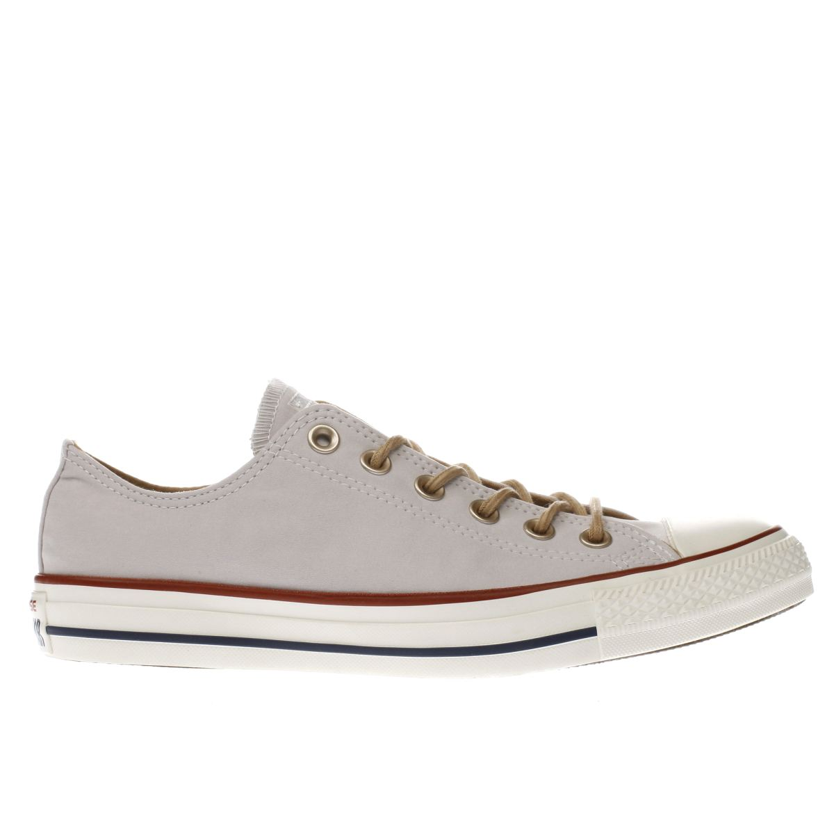 converse pale lilac all star peached ox trainers