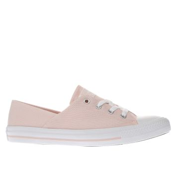 Converse Pink Coral Micro Dot Knit Womens Trainers