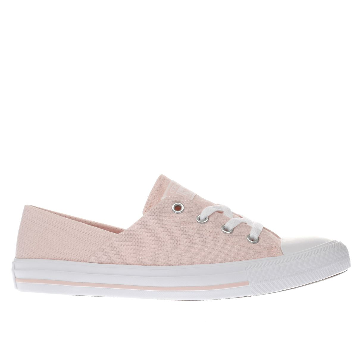 converse pale pink coral micro dot knit trainers