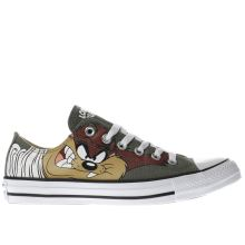 Converse Khaki  Looney Tunes Taz Ox Womens Trainers
