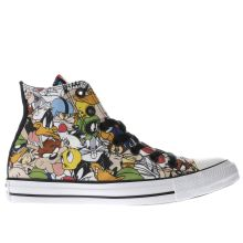 Converse Black & Green Looney Tunes Multi Hi Womens Trainers