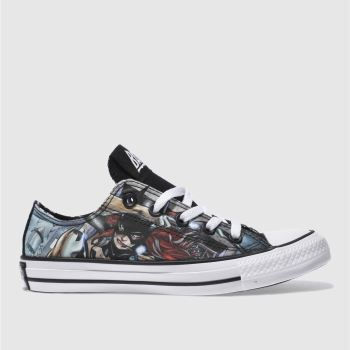 Converse Black All Star Batgirl Ox Womens Trainers