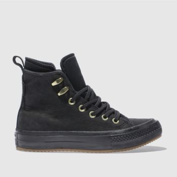 Converse Black All Star Waterproof Boot Hi Womens Trainers