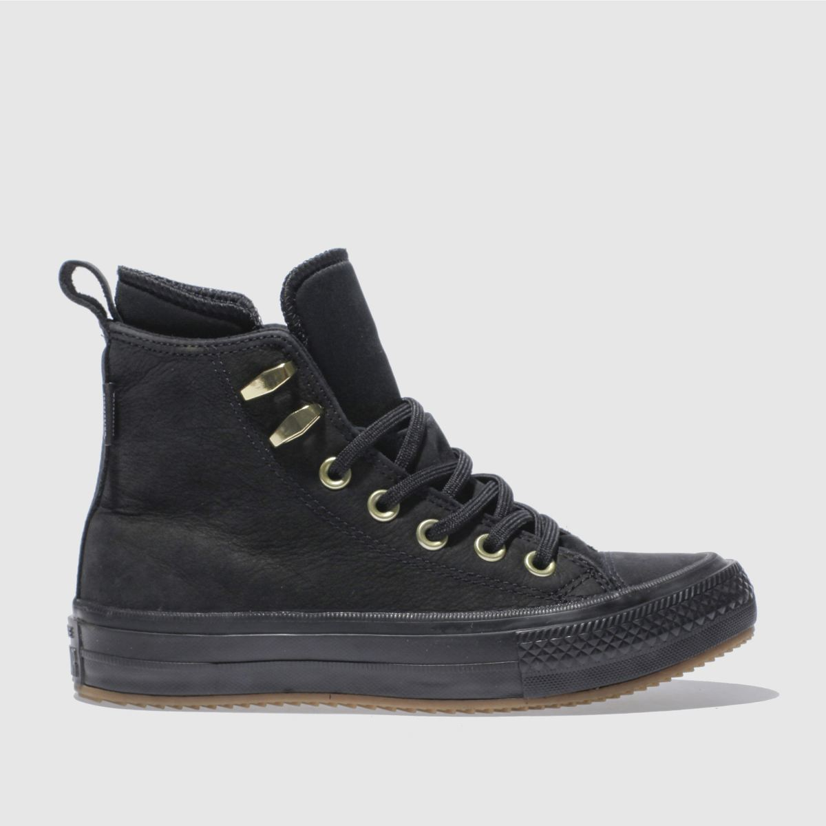 converse black all star waterproof boot hi trainers