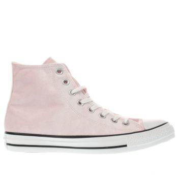 Converse Pink All Star Velvet Hi Womens Trainers