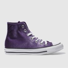 Converse Purple All Star Velvet Hi Womens Trainers