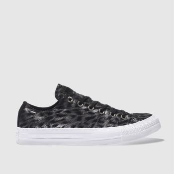 Converse Black All Star Foil Suede Ox Womens Trainers
