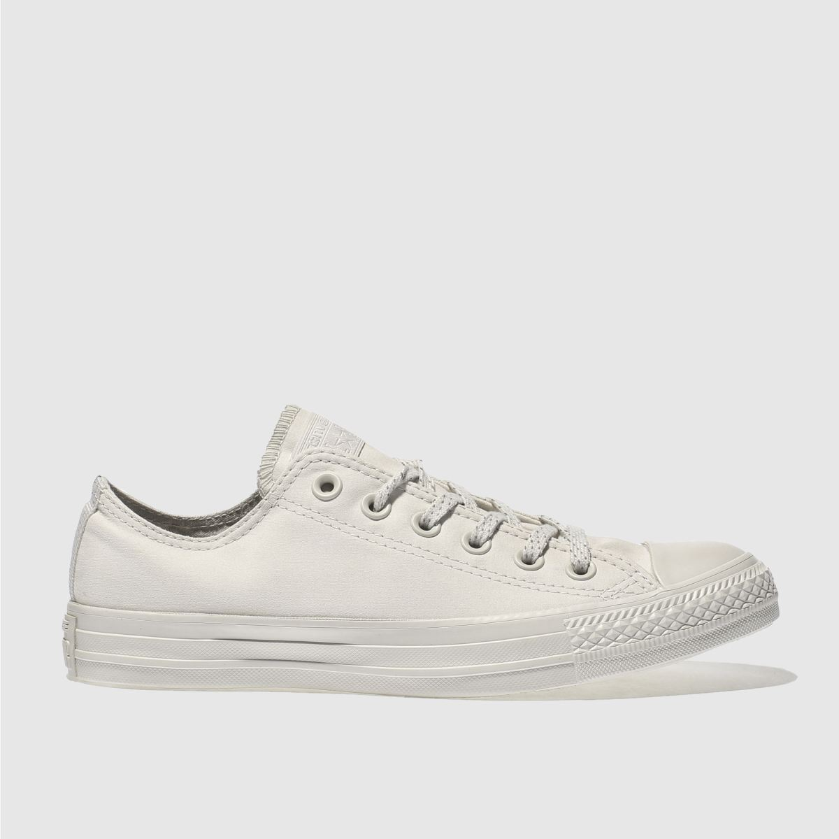 converse light grey chuck taylor all star mono ox trainers