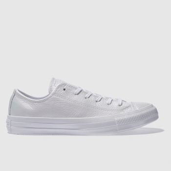 Converse White All Star Leather Ox Womens Trainers