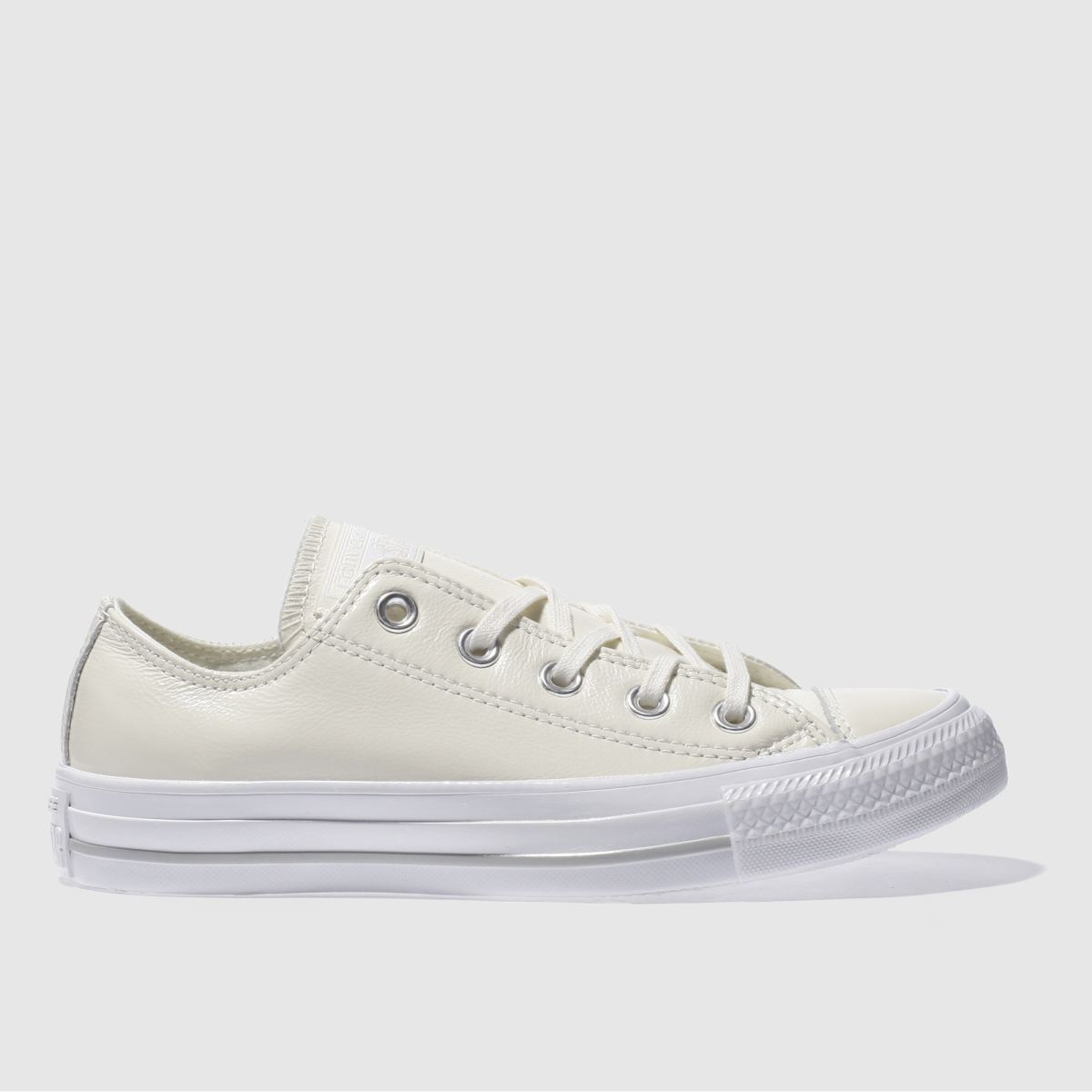 converse natural all star patent ox trainers