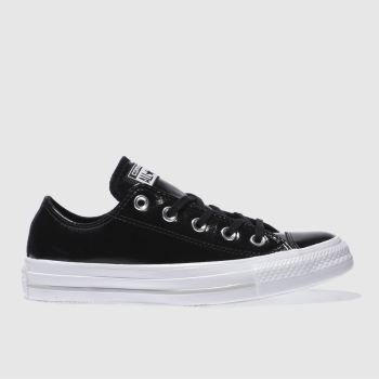 Converse Black All Star Patent Ox Womens Trainers