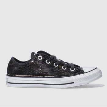 Converse Silver All Star Sequin Ox Womens Trainers