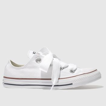 Converse White All Star Big Eyelets Ox Womens Trainers