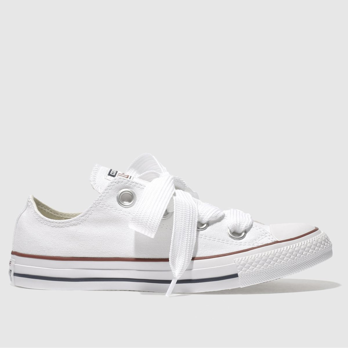 Converse White All Star Big Eyelets Ox Trainers