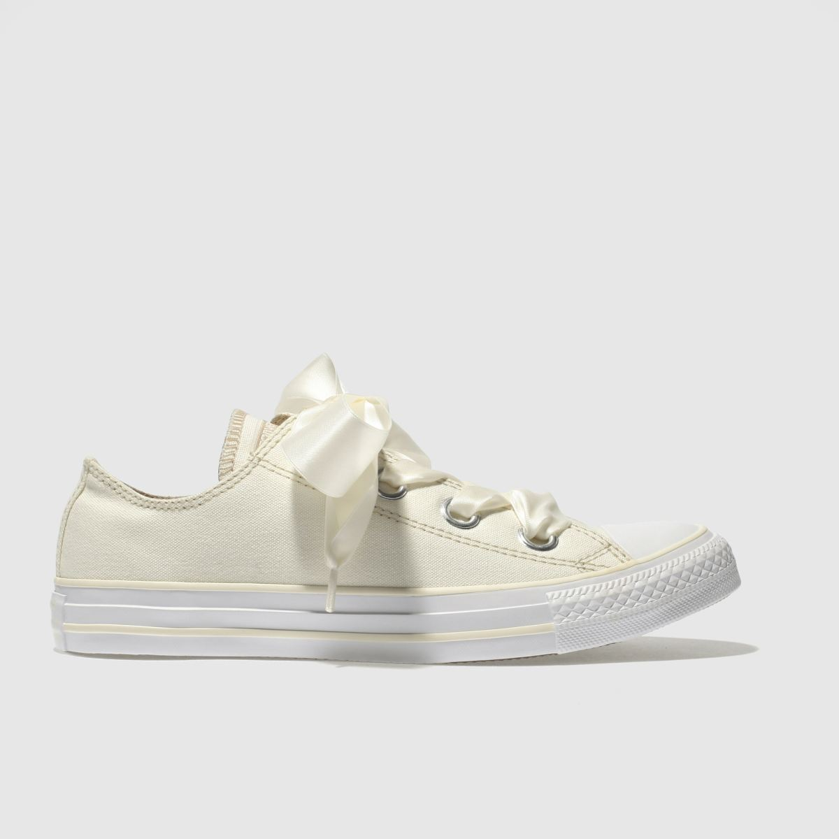 Converse Cream All Star Big Eyelets Ox Trainers