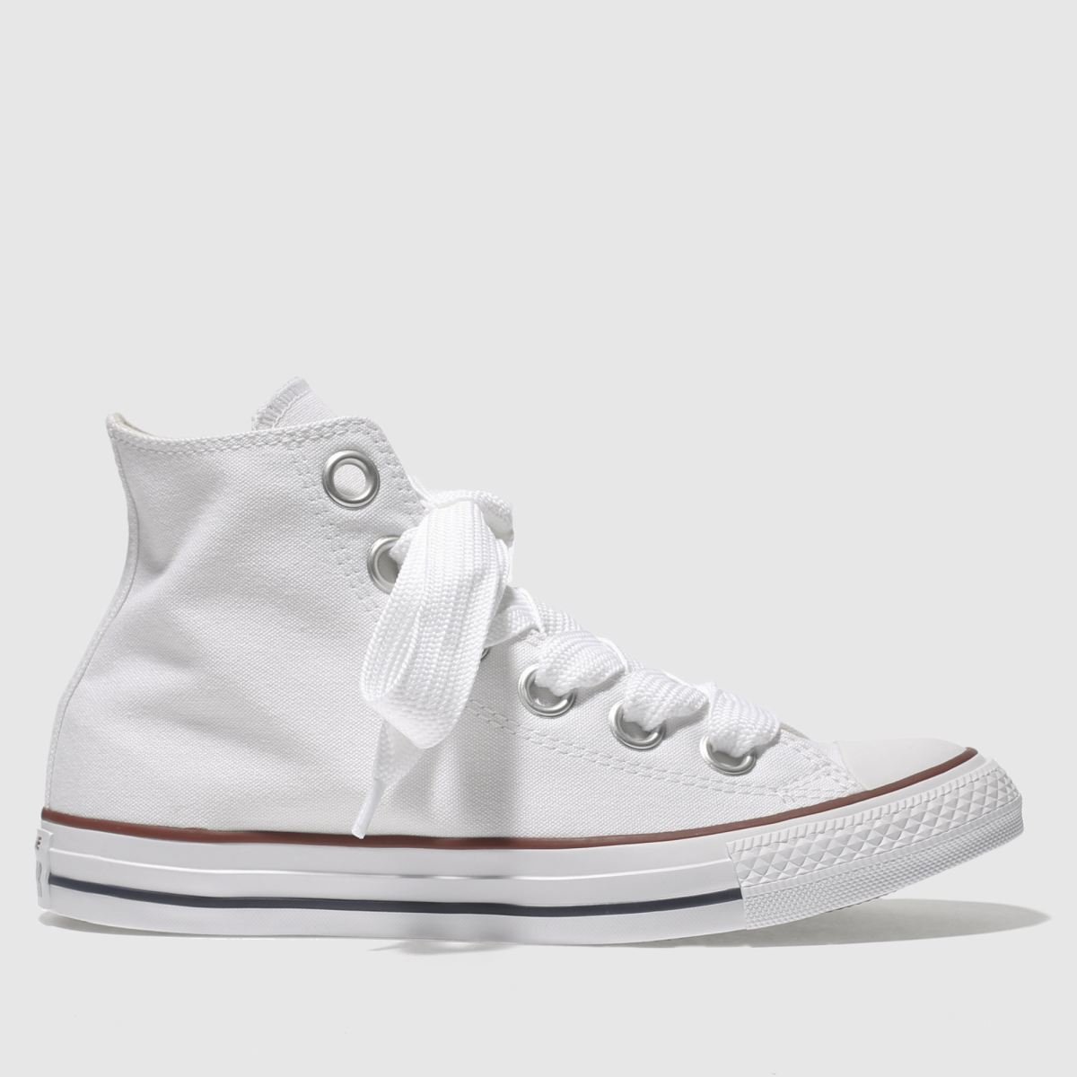 Converse White All Star Big Eyelets Hi Trainers
