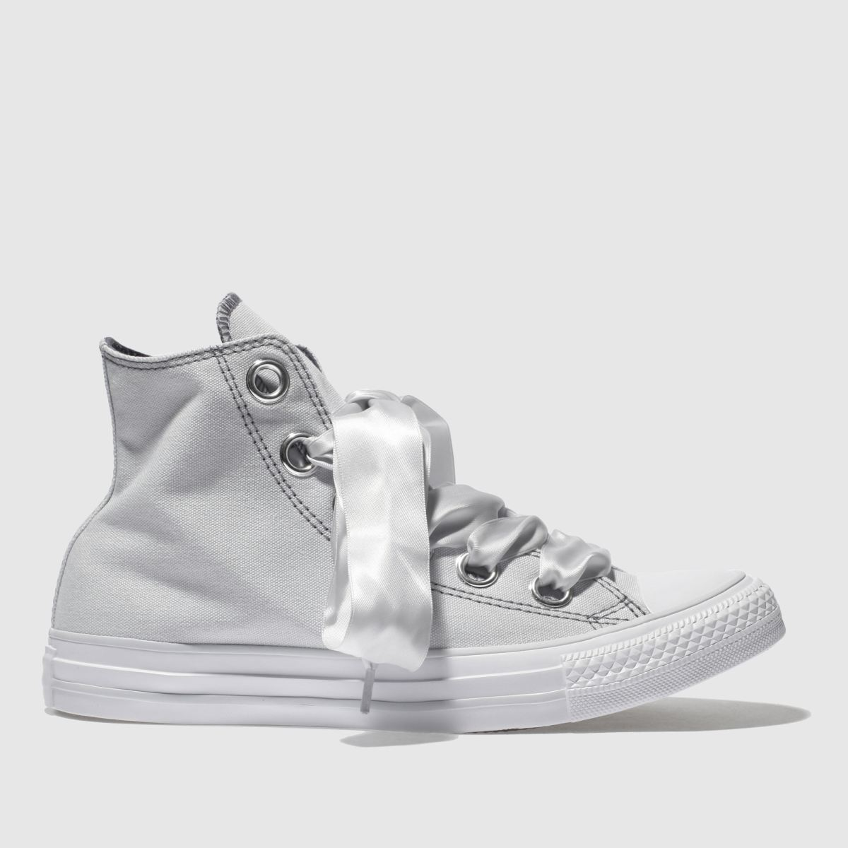 Converse Light Grey All Star Big Eyelets Hi Trainers