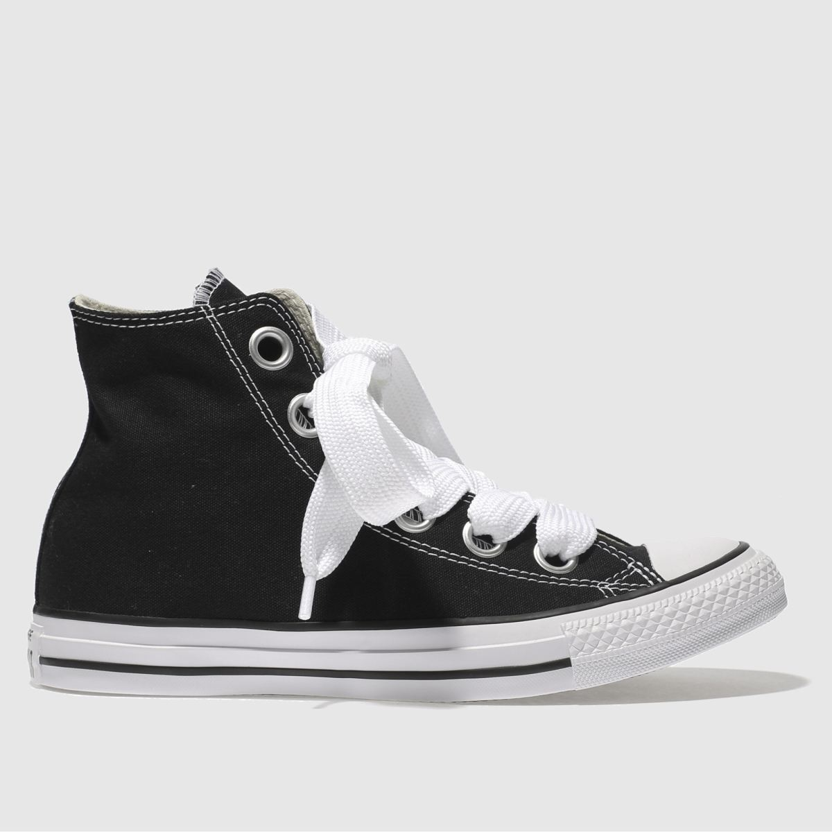 Converse Black & White All Star Big Eyelets Hi Trainers