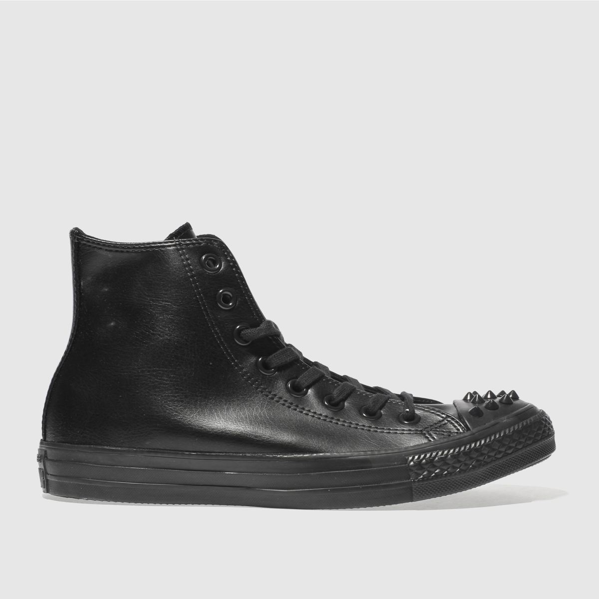 Converse Black Chuck Taylor All Star Studs Hi Trainers