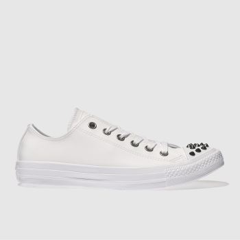Converse White Chuck Taylor All Star Studs Ox Womens Trainers
