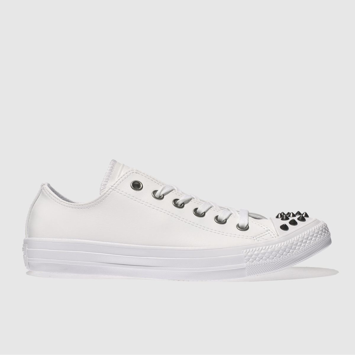 Converse White Chuck Taylor All Star Studs Ox Trainers