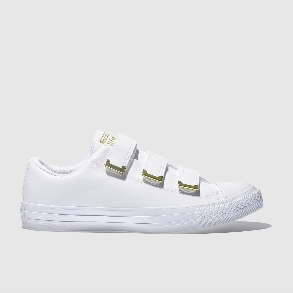 Converse White Chuck Taylor All Star 3v Ox Trainers