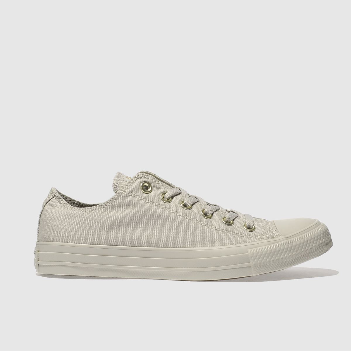 Converse Light Grey All Star Mono Glam Ox Trainers