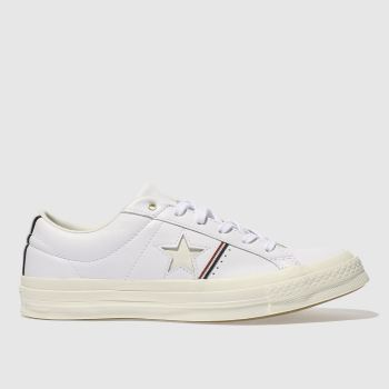 Converse White One Star Leather Ox Womens Trainers