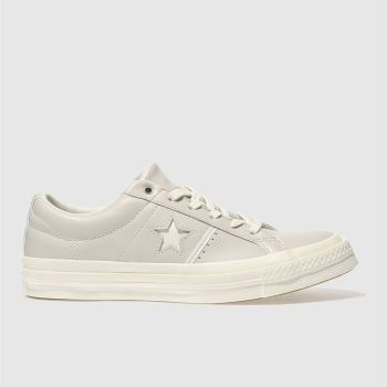 Converse Grey One Star Leather Ox Womens Trainers