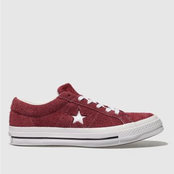 Converse Burgundy One Star Suede Ox Womens Trainers