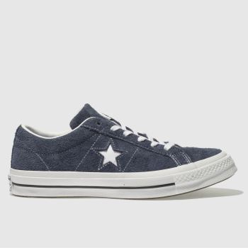 Converse Navy One Star Suede Ox Womens Trainers