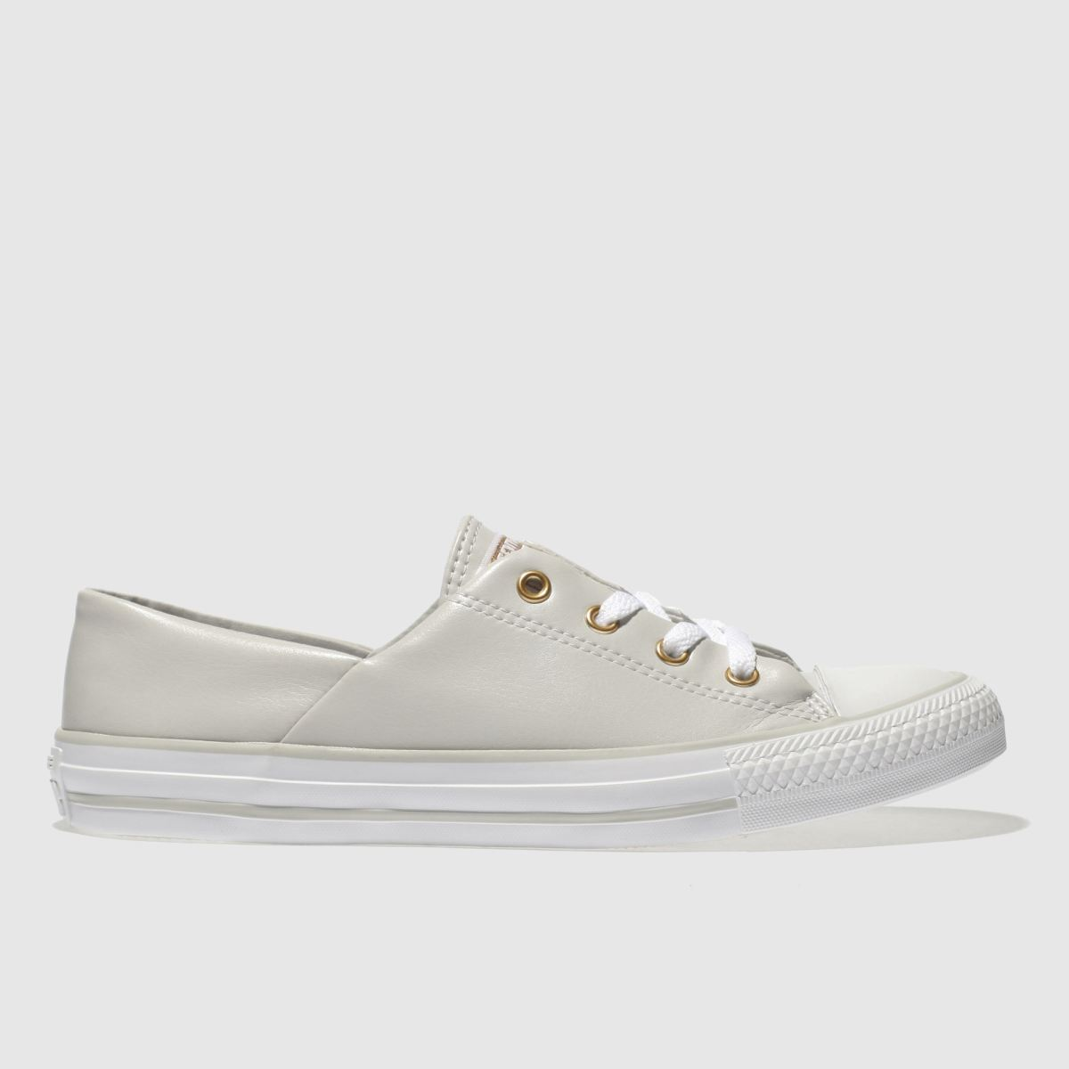 Converse Light Grey All Star Coral Craft Pu Ox Trainers