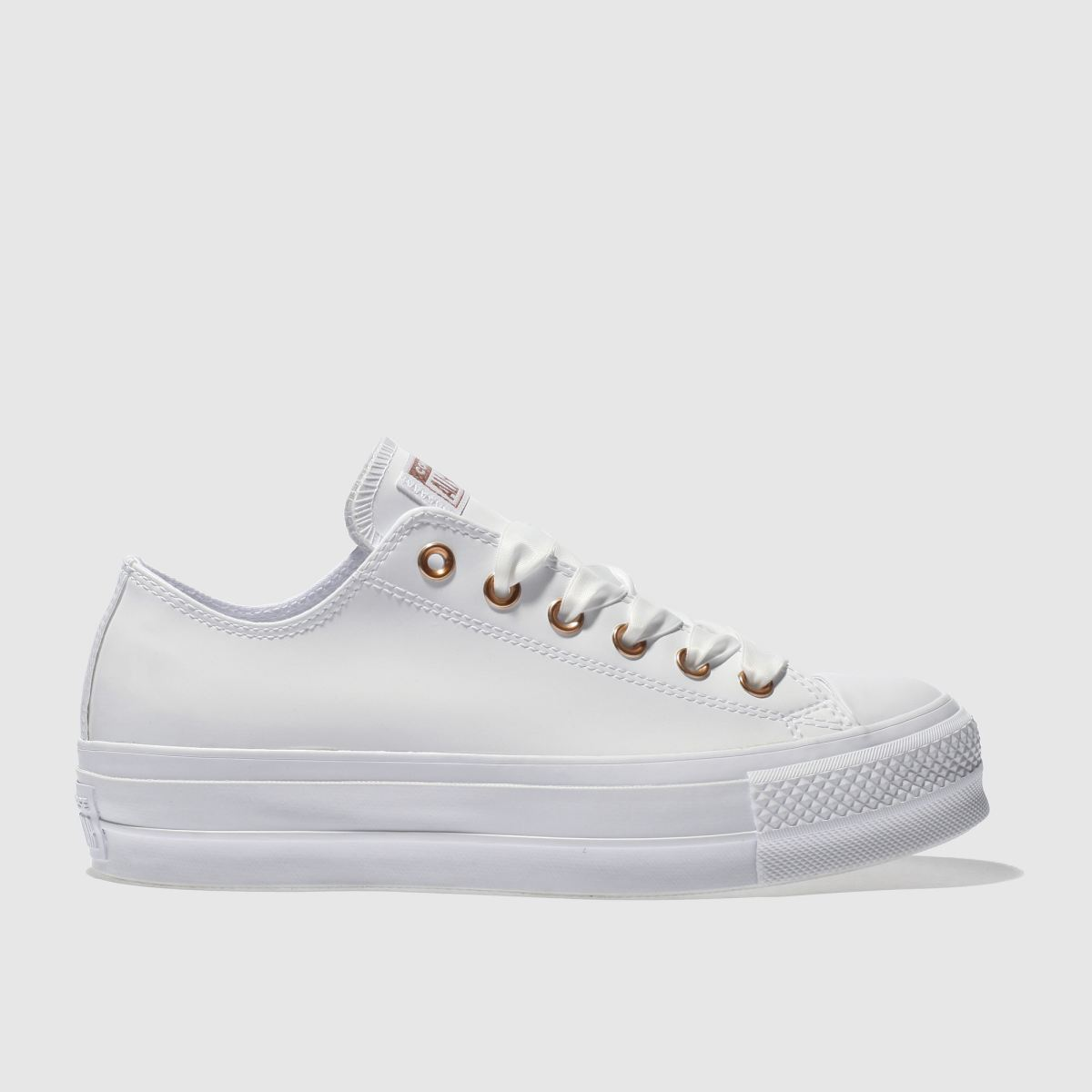 Converse White Ox Lift Platform Patent Trainers