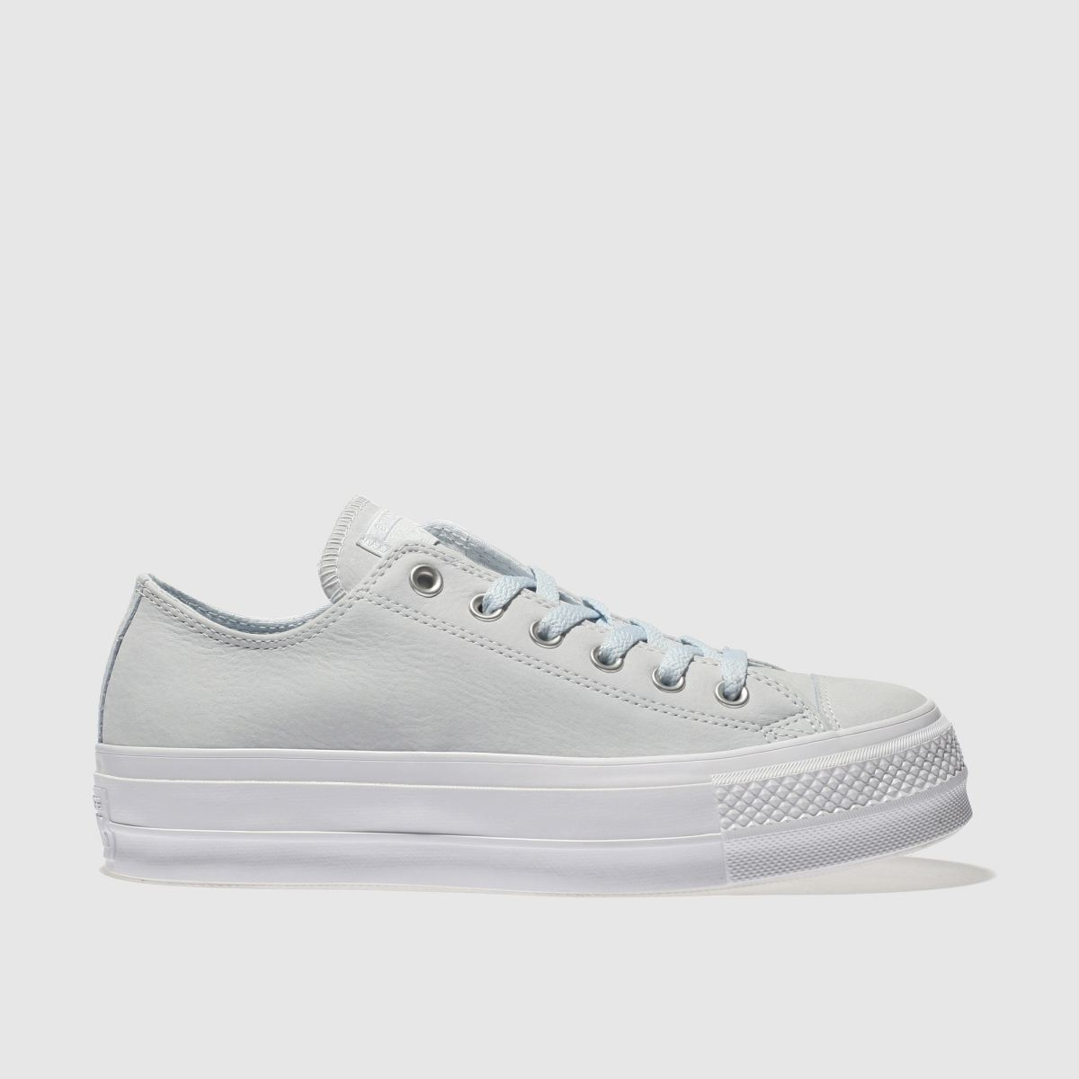 Converse Pale Blue Ox Lift Platform Nubuck Trainers