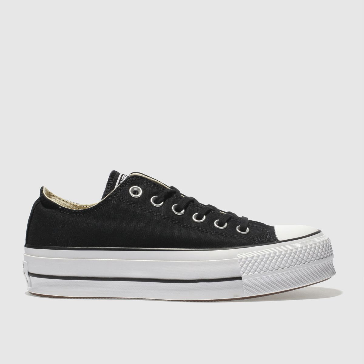 Converse Black & White Ox Lift Platform Trainers
