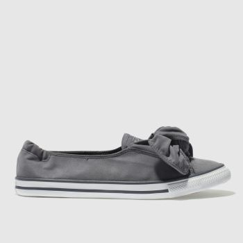 Converse Grey Chuck Taylor All Star Knot Ox Womens Trainers
