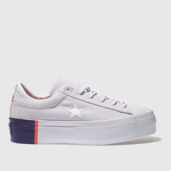 Converse Lilac One Star Platform Ox Womens Trainers