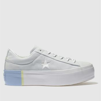 Converse Blue One Star Platform Ox Womens Trainers
