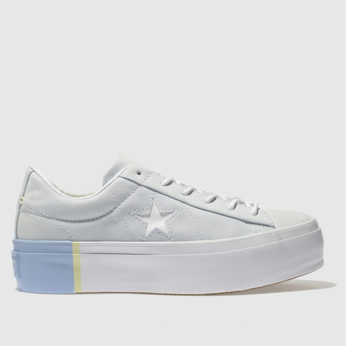 Converse Pale Blue One Star Platform Ox Trainers