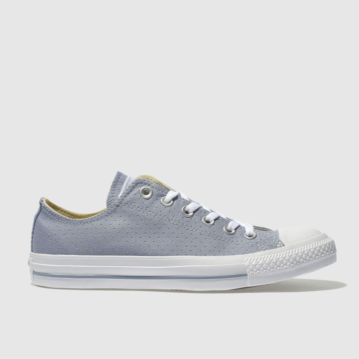 Converse Blue All Star Chambray Perf Ox Trainers
