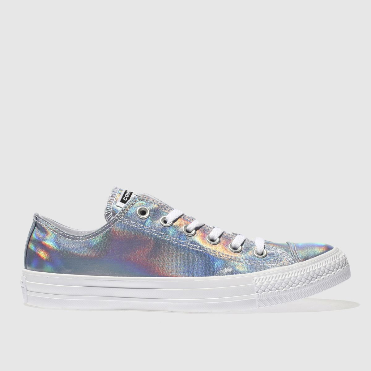 Converse Silver All Star Iridescent Ox Trainers