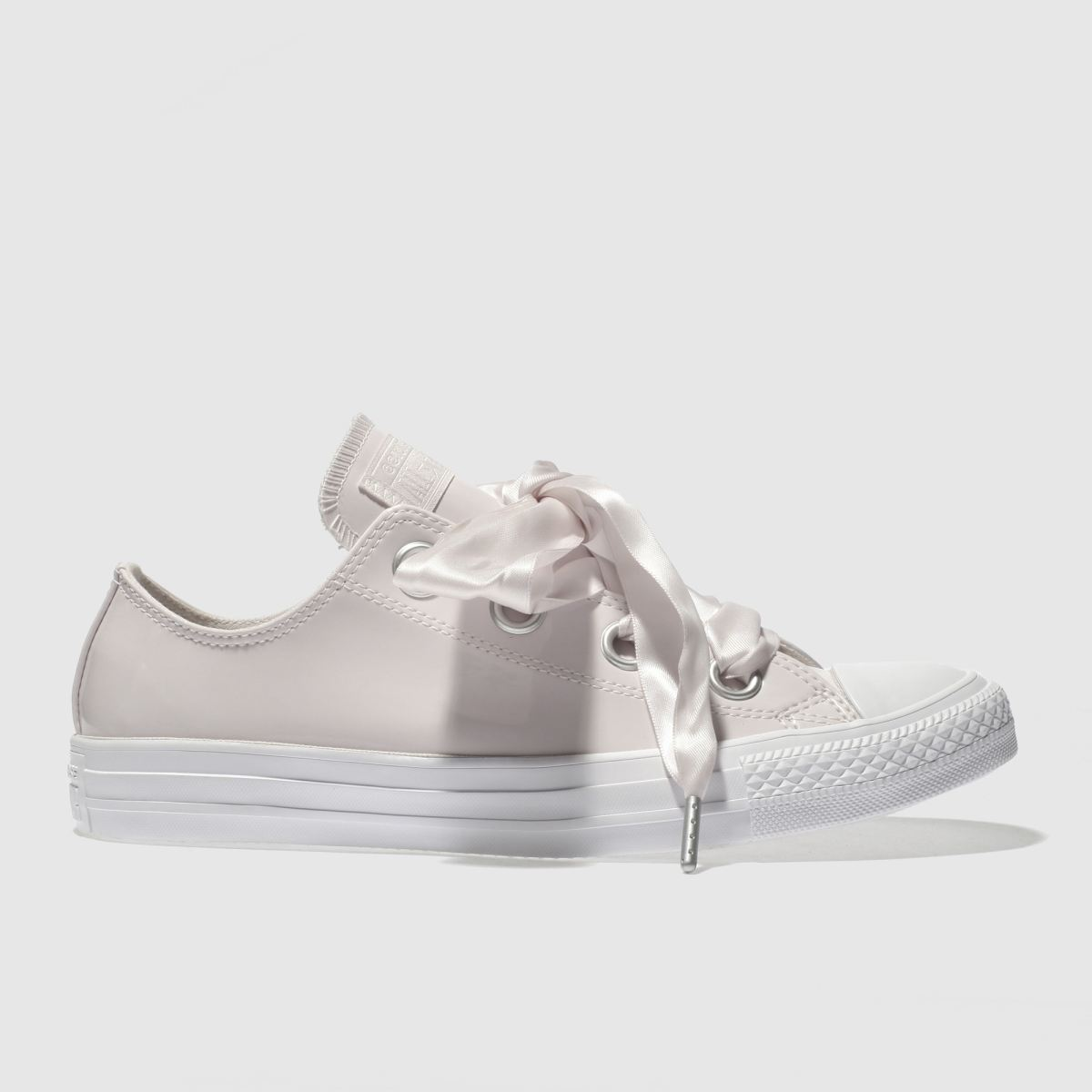 Converse Pale Pink Big Eyelet Patent Ox Trainers
