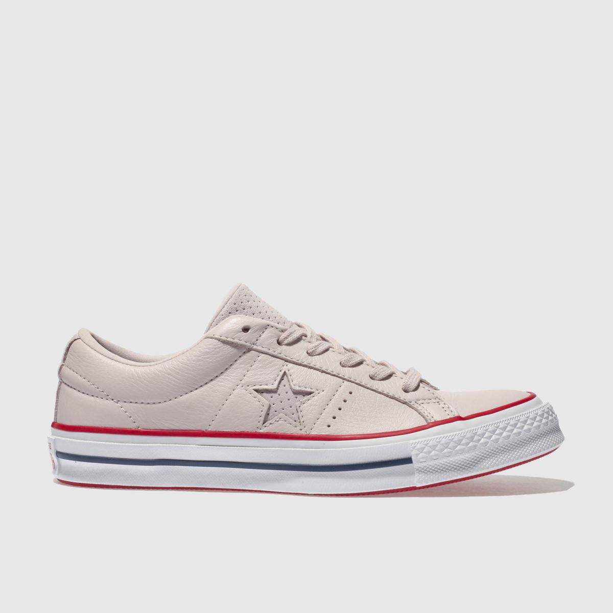 Converse Pale Pink One Star Leather Ox Trainers