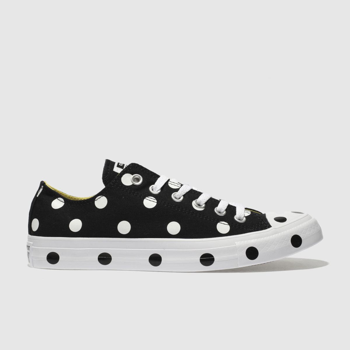 Converse Black & White All Star Polka Dot Ox Trainers