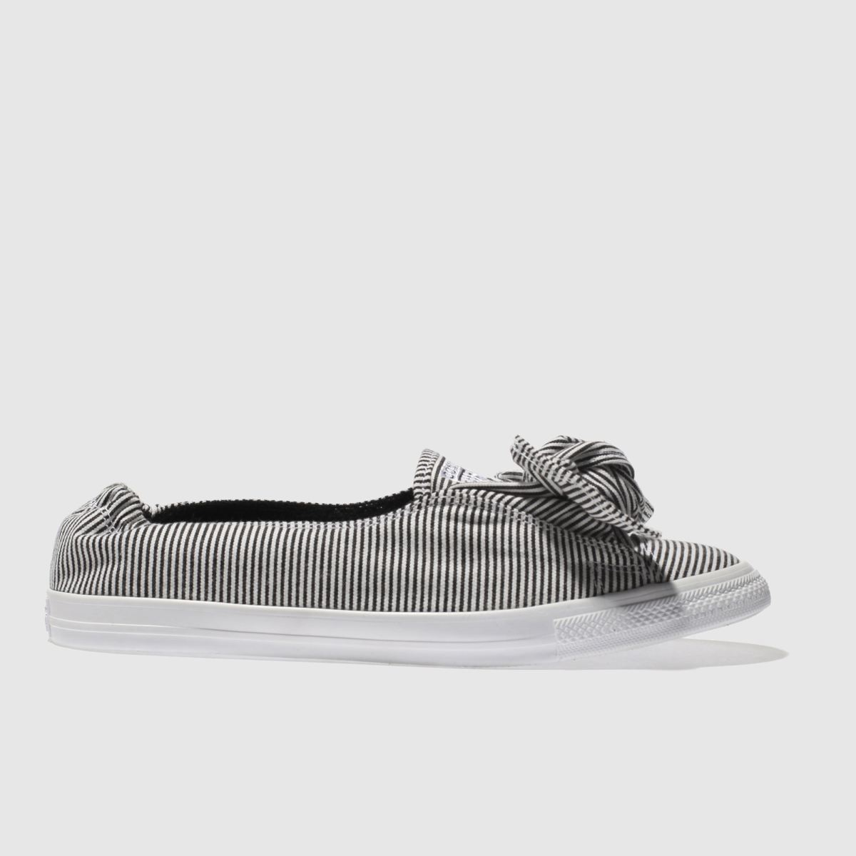 Converse Black & White All Star Stripe Knot Slip Trainers
