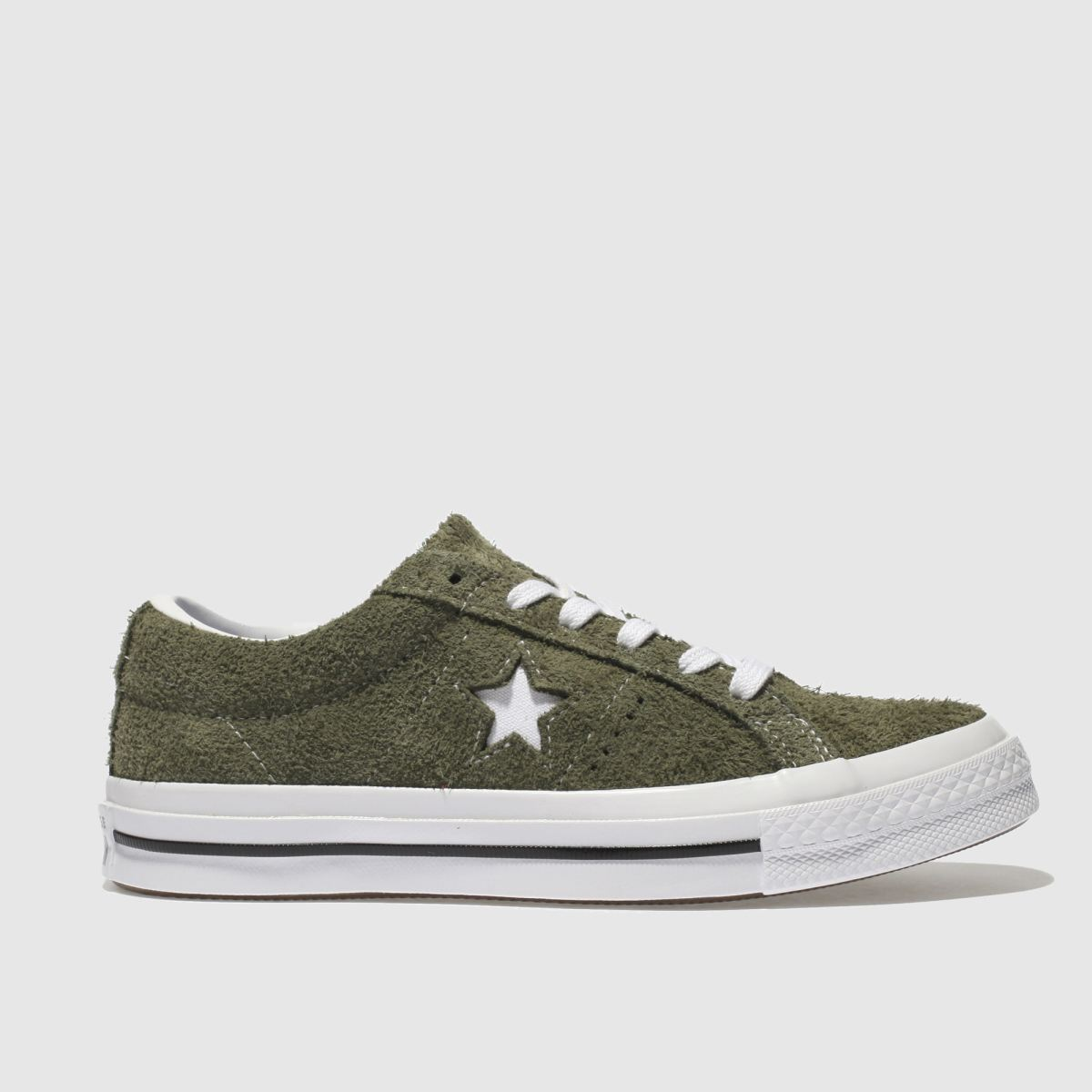 Converse Khaki One Star Vintage Suede Trainers