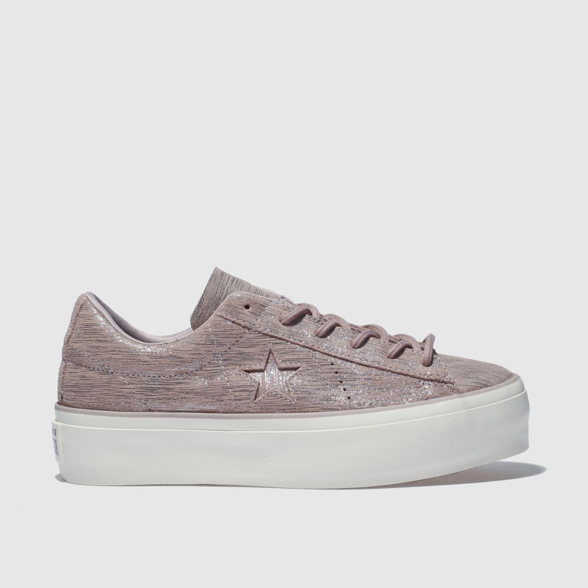 Converse Lilac One Star Platform Ox Trainers