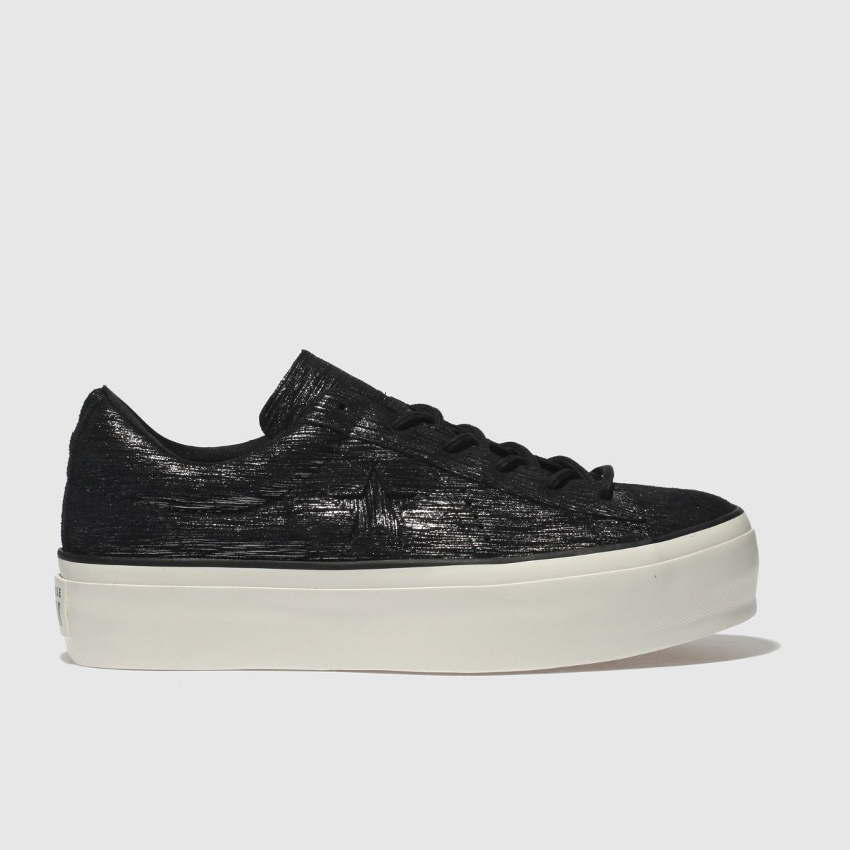 Converse Black & White One Star Platform Ox Trainers